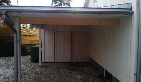 Carport, tillbyggnad